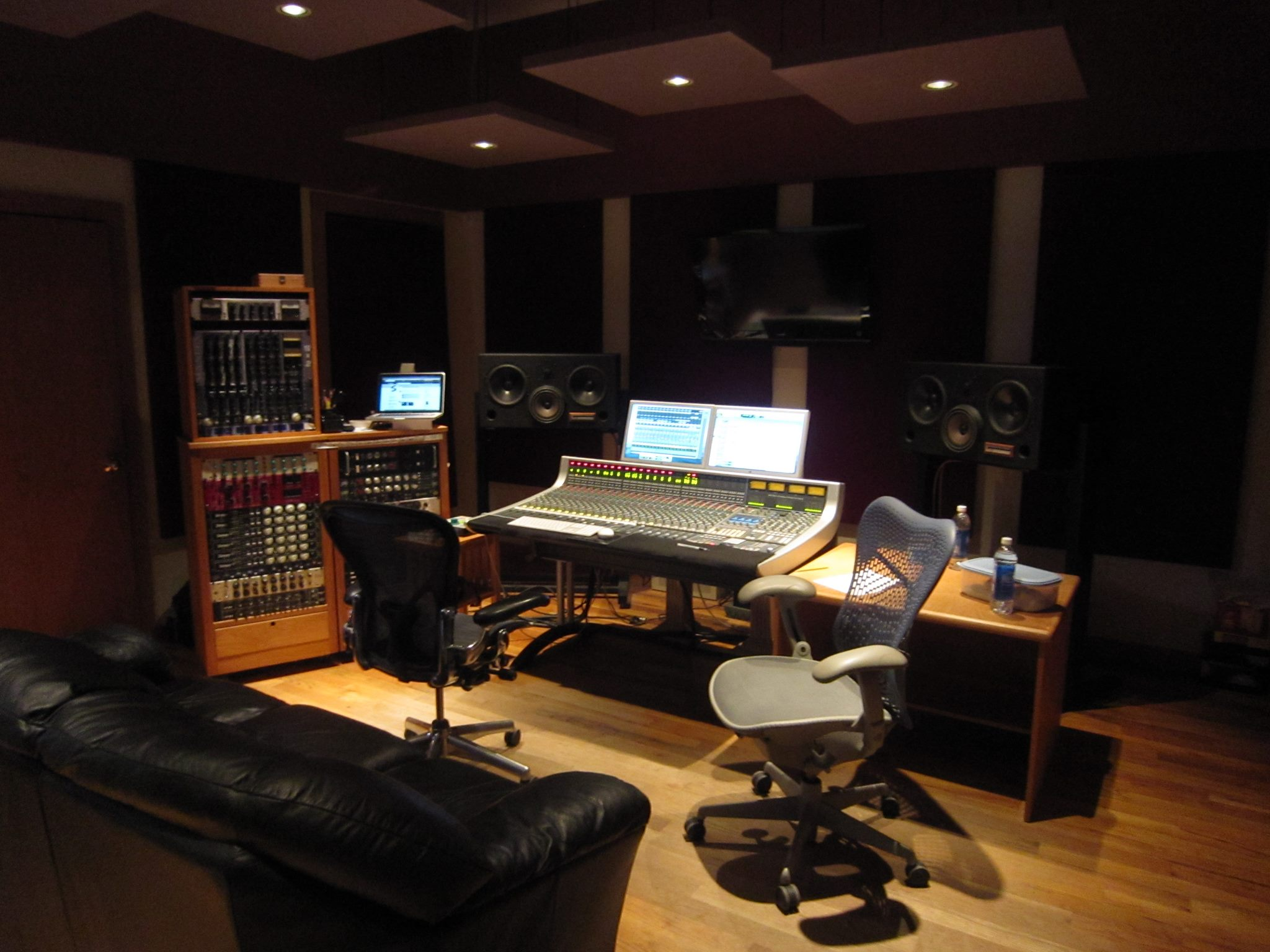 Interior of Wild Sound recording studio.
