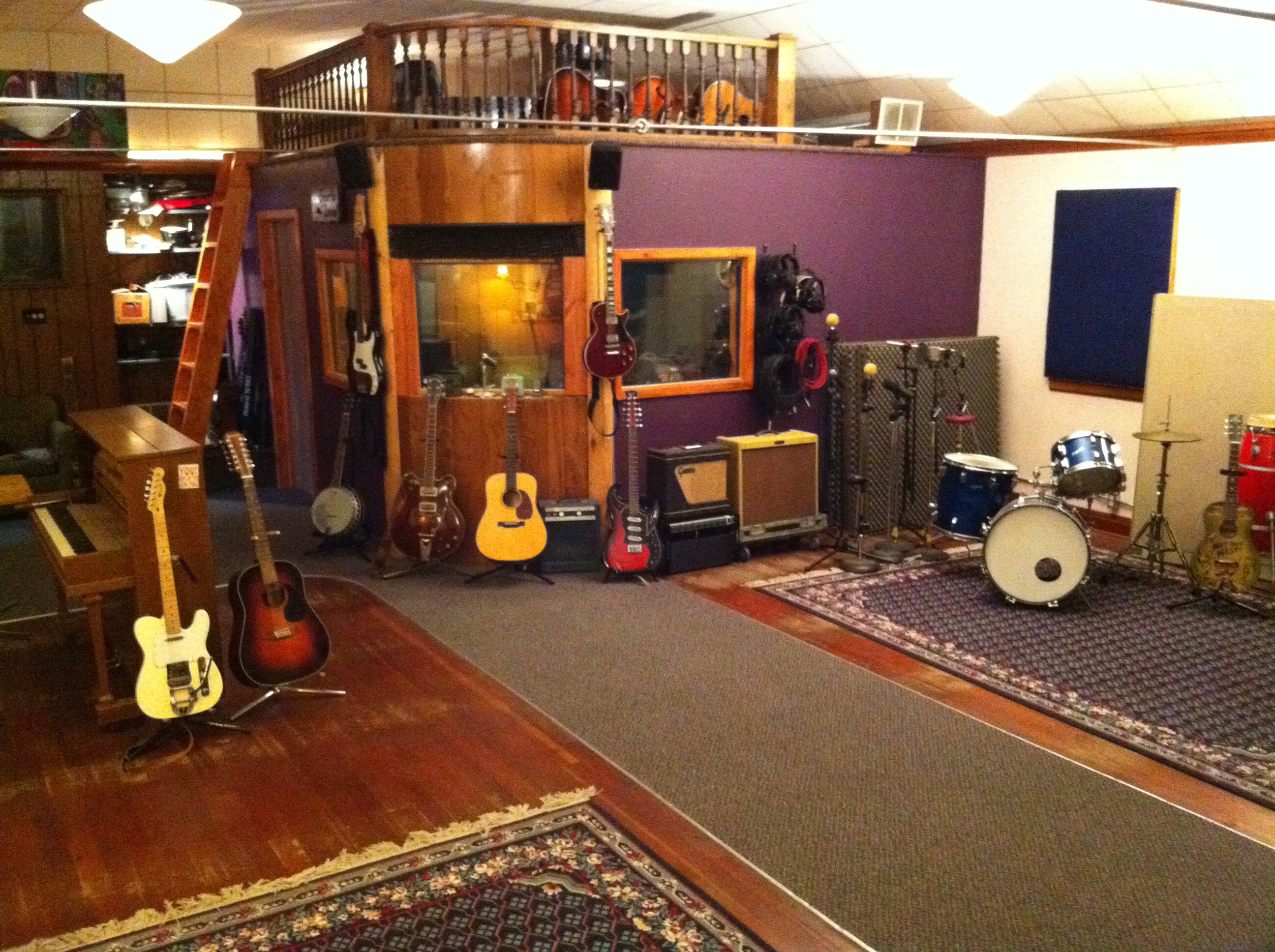 Interior of Sparta Sound recording studio.