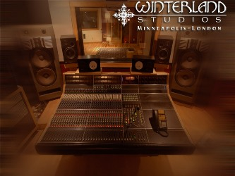 Interior of Winterland recording studio.