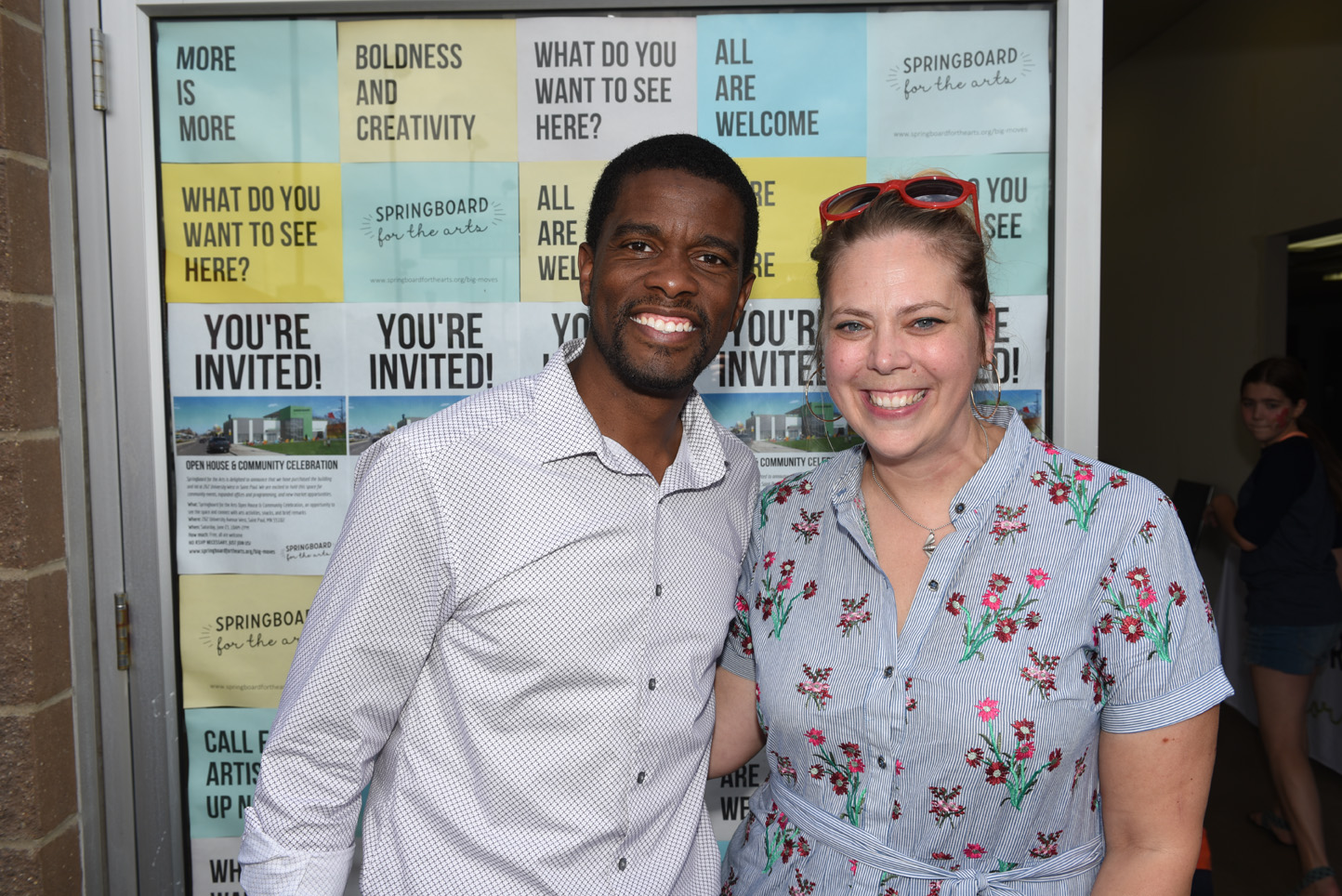Mayor Melvin Carter and executive director Laura Zabel