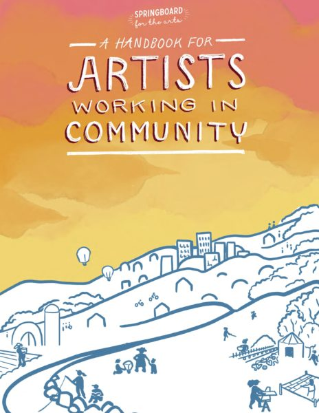 Sample page from A Handbook for Artists Working in Community
