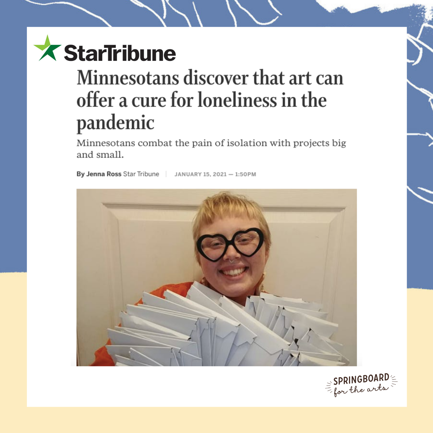 Graphic with quote from Star Tribune
